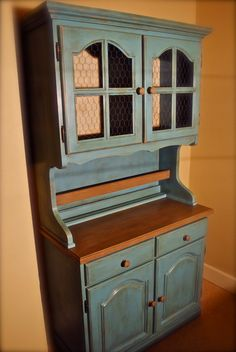 Antiqued Kitchen Hutch by CountryRestorations on Etsy