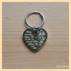 klíčenka pochromovaná srdce - poděkování - mamince od dcery