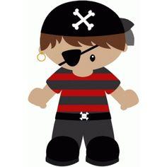 Silhouette Design Store - View Design #44755: pirate boy