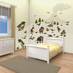 Walltastic Dinosaur Land Room Decor Wall Sticker Kit Wall…