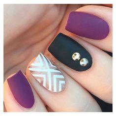 50 MATTE NAIL POLISH IDEAS ❤ liked on Polyvore featuring beauty products, nail care, nail polish and sticker nail polish
