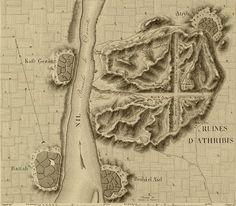 Plan of Athribis Ruins, Egypt.