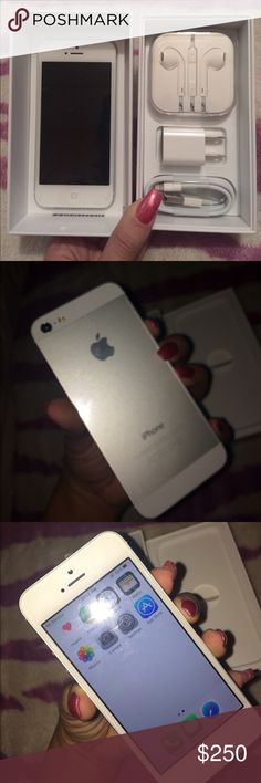 *BRAND NEW* Apple iPhone 5 16gig White *BRAND NEW - NEVER USED*  Apple iPhone 5 - CLEAN ESN.  16gig  White & silver  Never used - Still has plastic on front & back.  Can be activated on any carrier such as AT&T, Verizon, T-Mobile, Sprint, & even Cricket.  Comes with ALL original accessories but box is for my current 4s so I would like to keep the box but it's a problem I'll send it, I will ensure the iPhone makes it to you safe & unharmed(:  Trade welcome - Priced higher for trade value…