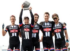 The Giant-Alpecin team celebrated together (Getty Images Sport)