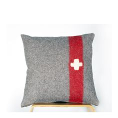 Helveticus cushion - handmade in Switzerland from vintage Swiss army blankets.
