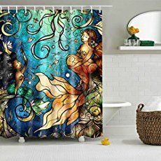 Mermaid Bathroom Decor Ideas mermaid shower curtain | my style | pinterest | mermaid shower