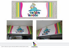 Projeto Placa em chapa com Logo em caixa alta e detalhes em adesivos (Neném Levado)