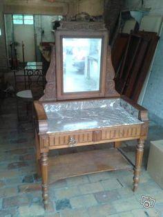 ancien grand miroir glace style louis xv noyer massif biseaut rocaille ep 1900 miroirs. Black Bedroom Furniture Sets. Home Design Ideas
