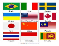 Flags Display/Poster Trims- international - PDF file6 page themed, teaching resource.This file is full of international flags. You get ...