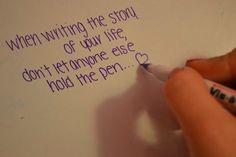 just write it in purple pen, hahahaha... :)