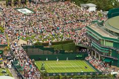 Monday 23 June 2014 / Wimbledon 2014 / An aerial view of The Championships taken with a robotic camera - Bob Martin/AELTC