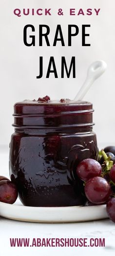 Freezer Jam Recipes, Jelly Recipes, Canning Recipes, Fruit Recipes, Bacon Recipes, Bacon Jam Burger, Homemade Grape Jelly, Cooking Jam, Jam And Jelly