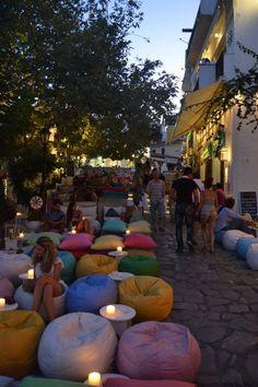 Cozy bar at Skiathos Island, Greece.