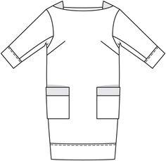 Платье: Burda. Мода для полных 1/ 2015/ 417 / Burdastyle
