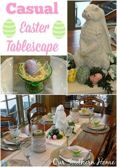 Our Southern Home | Casual Easter Tablescape | http://www.oursouthernhomesc.com
