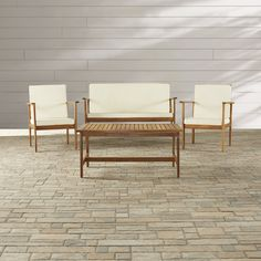 Beachcrest Home Lakeside 4 Piece Deep Seating Group with Cushion