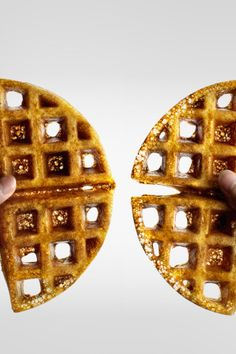 "crispy yeasted and extra ""malty"" waffles with a secret ingredient"