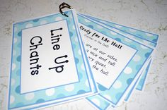 Great idea (to have all those lining up for the hall songs handy!) -- Mrs. Ricca's Kindergarten