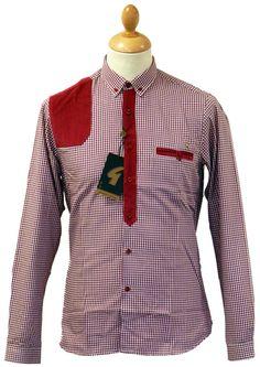 efff31d4c79 Holborn GABICCI VINTAGE Retro Gingham Cord Shirt