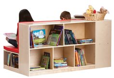 Guidecraft Modular Library Storage with Seat