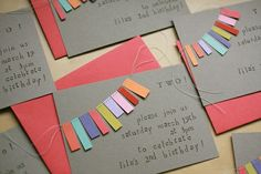 sewn cards - easy