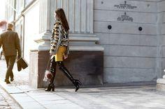 pretty woman fur coat lady fur copenhagen fashion week