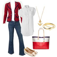 Weekend at the Yacht Club - CAbi Clothing by am-prettyinink on Polyvore