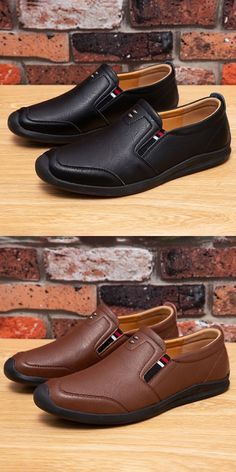 US 29.7 <Click to buy> Prelesty Handmade Casual Cap Toe Loafer Genuine Leather Men Driving Shoes Moccasin Breathable High Quality Boat Shoes, Men's Shoes, Dress Shoes, Leather Loafer Shoes, Loafers Men, Business Shoes, Awesome Shoes, Driving Shoes, Dapper