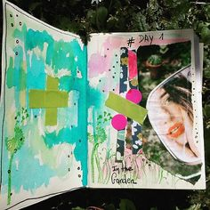 Day 1 in the garden  of #100dayproject #100daysofmyajcollage #artjournal #artjournaleveryday #artcollage #collagepaper #collage #journalcollage #journalcreatif #instacreativity #colors