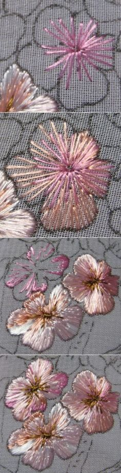 Master-class embroidery. Embroider a blossoming apple tree