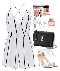 """""""Untitled #546"""" by alibasicamina ❤ liked on Polyvore featuring WithChic, Yves Saint Laurent, Alexandre Birman, Daniel Wellington, W. Britt, Burberry and Charlotte Tilbury"""