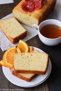 Orange Yogurt Cake (aka orange yogurt bread) is so moist thanks to a cup of Greek yogurt and a delicious orange syrup that is poured over the warm cake.