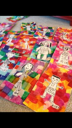 Tissue paper and portrait