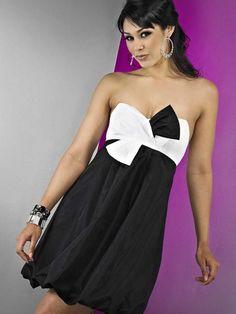 Sassy Taffeta Short Sweetheart Ruched White And Black Design Hottest