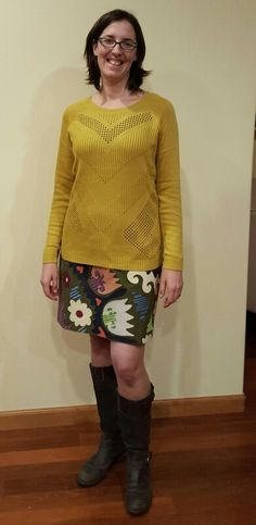 Fix 2: sweater. Not a good length for me. Having trouble making this work, though the color and fabric are great