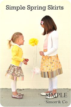 Quality Sewing Tutorials: Simple Spring Skirts by Simple Simon & Co Sewing Kids Clothes, Sewing For Kids, Baby Sewing, Free Sewing, Diy Clothing, Clothing Patterns, Sewing Tutorials, Sewing Projects, Diy Rock