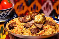 Plov - Uzbek Traditional Food So tasty - it is tradition to make this dish every thursday and is usually prepared with lamb. Source: lola-elise.com