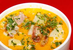 "Romanian Foods The Whole World Should Know. Transylvanian vegetable soup with pork – ""Ciorbă ardelenească de Romanian Foods The Whole World Should Know. Transylvanian vegetable soup with pork – ""Ciorbă ardelenească de porc"" Lithuanian Recipes, Romanian Recipes, Romanian Desserts, Romania Food, Romania Travel, Soup Recipes, Cooking Recipes, Eastern European Recipes, Pork Soup"