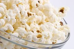 Close up of a bowl filled with popcorn