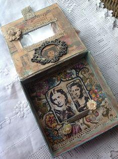 PaperArtsy: 2016 Keepsake Box {by Hazel Agnew} Word Doodles, Little Doodles, Vintage Stamps, Vintage Paper, Music Paper, Altered Boxes, Flower Doodles, Crafty Projects, Stamp Collecting