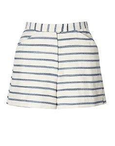 Tucker by Gaby Basora Papa's Cover Striped High Waisted Shorts