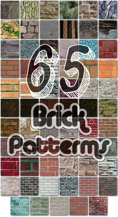 This includes 65 Realistic Seamless Brick Patterns! These patterns are for Photoshop. They are stored in one .pat file. They are repeating and seamless. Also check out: • 254 Floor Patterns • 4 Lea...