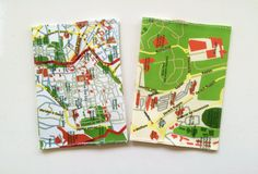 Jerusalem map passport cover  a souvenir from Israel  a by efratul