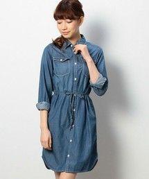 商品詳細 - デニム刺繍ワンピース|coen(コーエン)公式通販