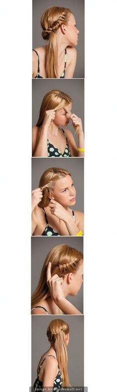 13 Beautiful Braided Hairstyles With Tutorials - Pretty Designs Childrens Hairstyles, Pretty Hairstyles, Braided Hairstyles, Heatless Hairstyles, Beautiful Long Hair, Gorgeous Hair, Cabello Hair, Cool Braids, Tips Belleza