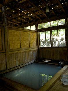 Hot spa in Fukushima, Japan