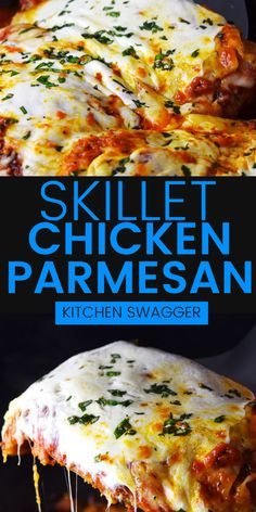 Get all the classic flavors of Chicken Paremsan in one skillet with this easy dish. Follow our simple technique for crispy, parmesan-coated chicken, topped with delicious marinara and melted mozzarella.