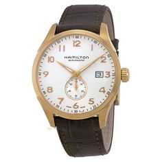 Hamilton Maestro Jazzmaster Automatic White Dial Brown Leather Mens Watch H42575513