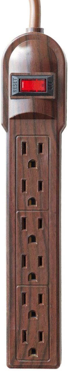 Amazon.com: The Invisiplug DO003 6 Outlet Power Strip, Dark Oak: Electronics
