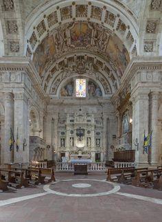 ✯ San Biagio Church Interior, main altar - Italy - Montepulciano, Tuscany built by Antonio da Sangallo the Elder between 1518-1545